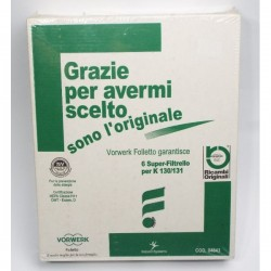 6 SACCHETTI ORIGINALI FOLLETTO VK130 E VK131