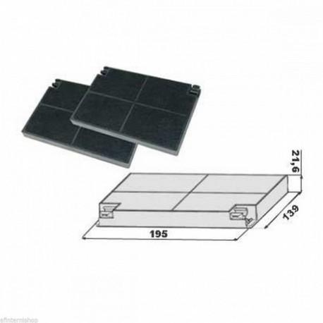 2 filtri carbone per cappa faber cm 19 5x14 0 - Filtri per cappa cucina ...